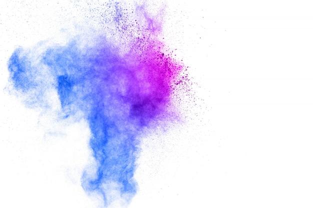 Einfrieren von farbigen pulversprengungen