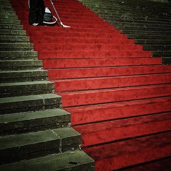 Eingang treppen entstehung teppich perspektive