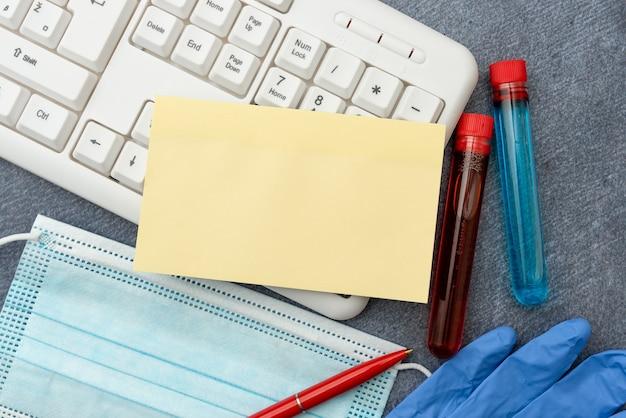 Eingeben medizinischer notizen wissenschaftliche studien behandlungspläne zur erforschung von virusmedizin-labortests ...