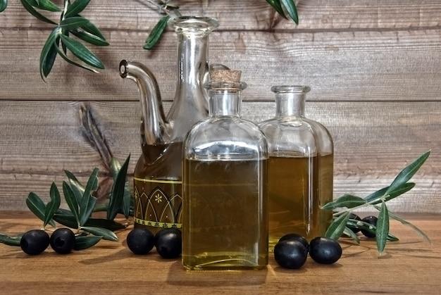 Eingelegtes olivenöl in kleinen gläsern