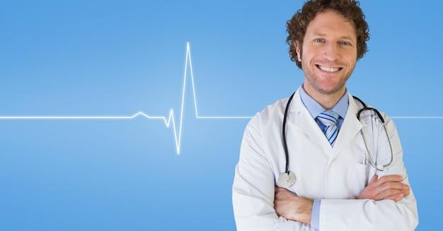 Einheitliche braune haare schreicardio stehen
