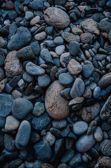 Einige abgerundete steine