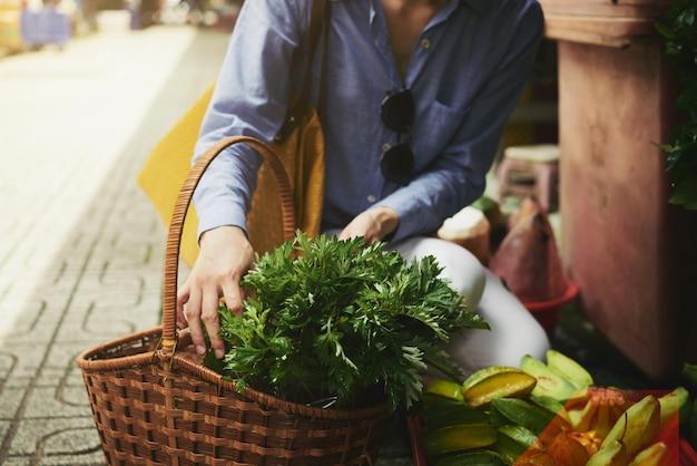 Einkaufen am markt