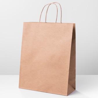 Einkaufen braune papiertüte mit griffen