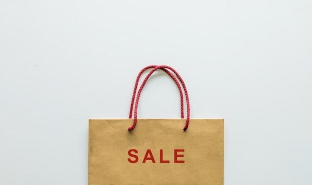 Einkaufstasche auf weiß