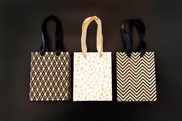 Einkaufstasche, geschenkbox im modernen stil