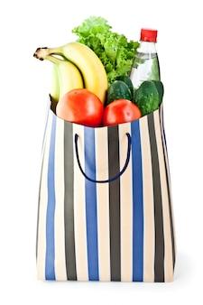 Einkaufstasche mit essen