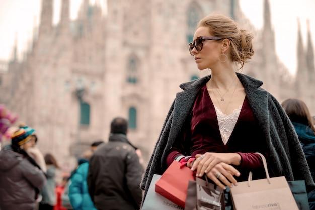 Einkaufstour in der stadt