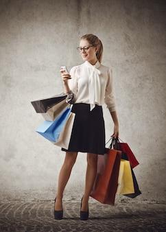 Einkaufstour und kommunikation