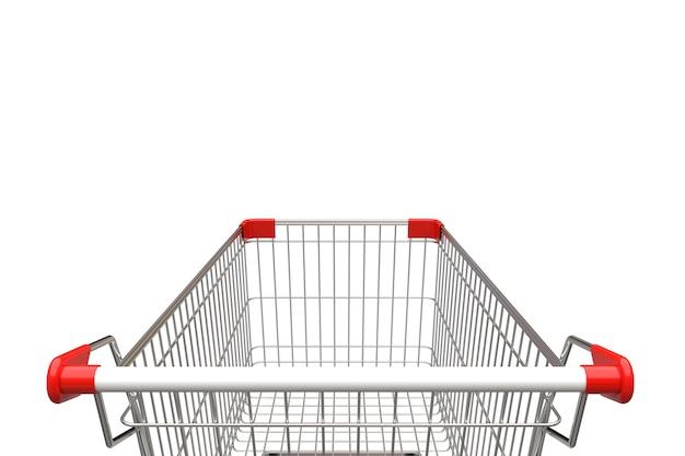 Einkaufswagen getrennt auf weißem hintergrund