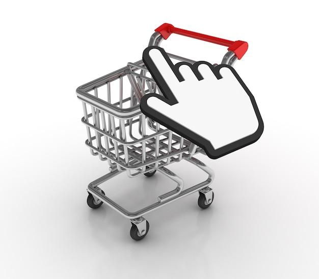 Einkaufswagen mit handcursor