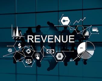 Einkommen Einkommen Geld Gewinn Kosten Budget Banking Konzept