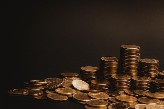Einsparungen, zunehmende spalten des münzenhintergrundes