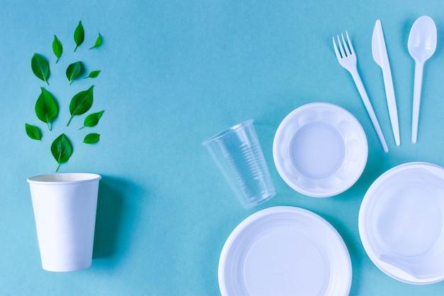 Einwegutensilien im vergleich zu plastikutensilien