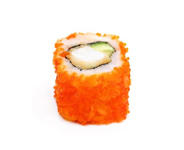 Einzelne traditionelle japanische sushi-rolle