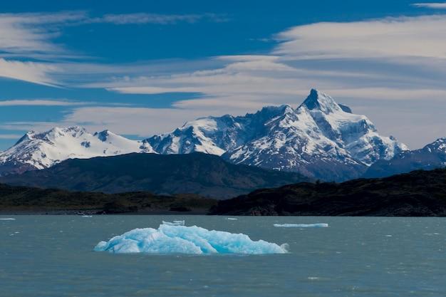 Eisberg schwimmt auf dem lago argentino