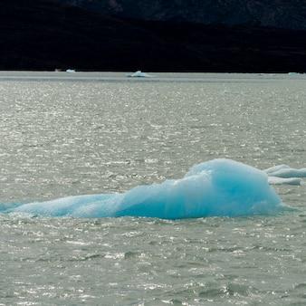 Eisberge im see argentino, los glaciares nationalpark, santa cruz province, patagonien, argentinien