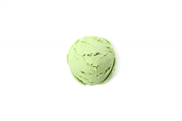 Eiscremeball lokalisiert auf weiß