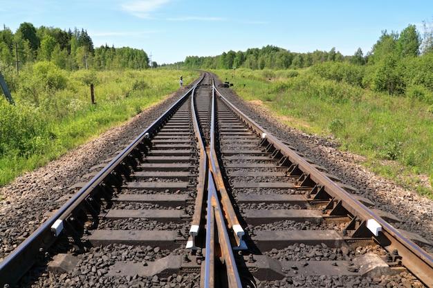 Eisenbahn auf natur