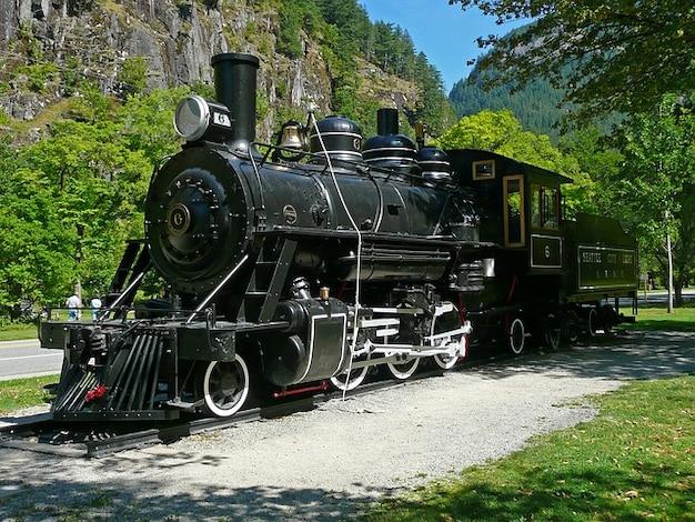 Eisenbahn-lokomotive aus metall
