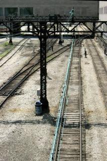 Eisenbahnschienen, metallic