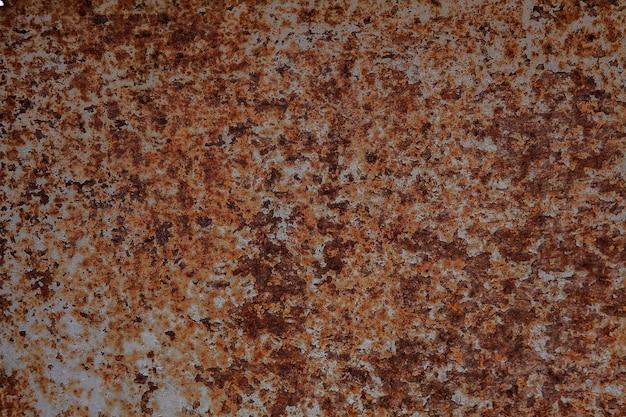 Eisenoberflächenrost, hintergrund des rosts auf metall