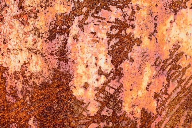 Eisenwand mit rost. grunge-textur. hintergrund für den designer. korrosion von metall