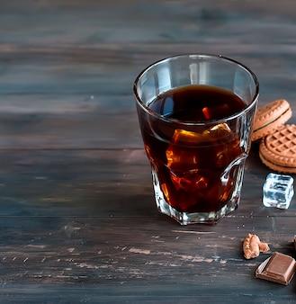 Eiskaffee in glas