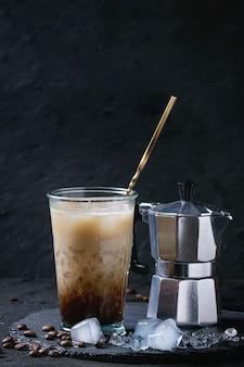 Eiskaffee mit sahne