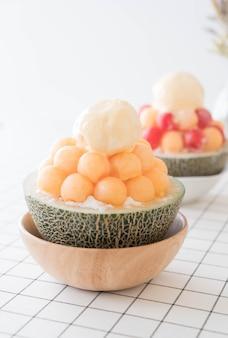 Eismelone bingsu, berühmtes koreanisches eis
