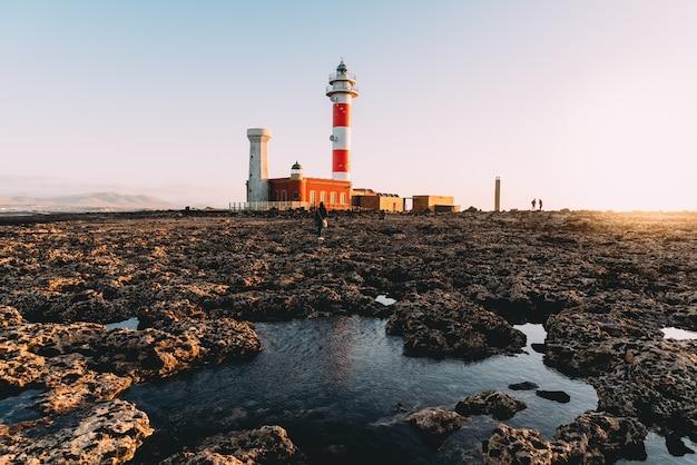 El cotillo leuchtturm, fuerteventura, kanarische inseln, spanien
