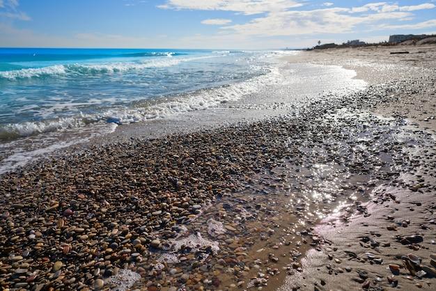 El saler strand von valencia am mittelmeer