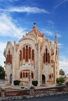 El santuario de santa maria magdalena - 12. oktober 2015, ist es ein religiöses gebäude in novelda, alicante (valencia, spanien) und wurde aus einem projekt jose sala sala gebaut