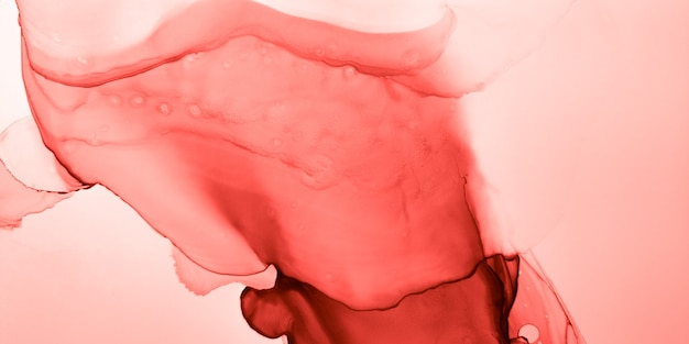 Elegante alkoholtinte. lebendiges korallendekor. pastell traditioneller spritzer. künstlervorlage. rosa mischgewebe. orange marmor-konzept. rose amethyst-illustration. rote elegante alkoholtinte.