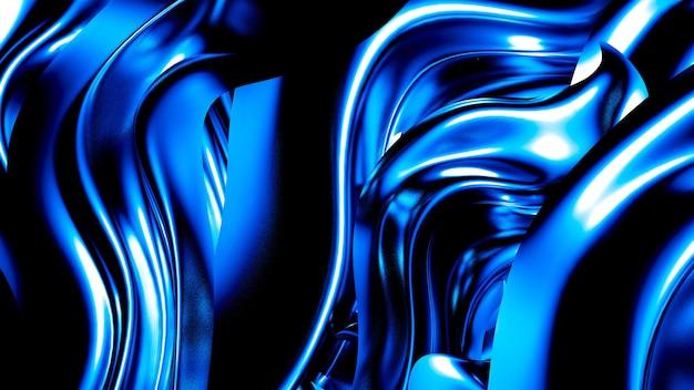 Elegante dunkelblaue flüssigkeit mit strudeln