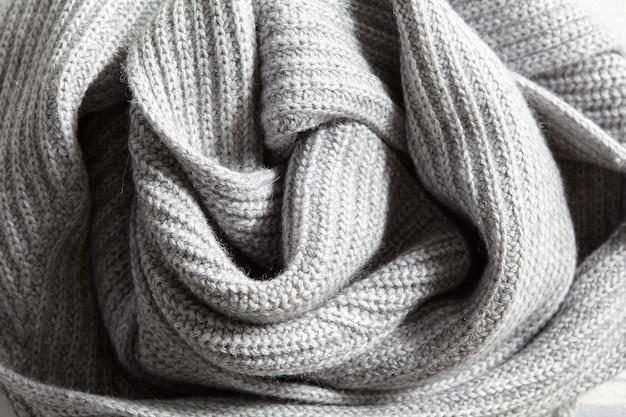 Elegante graue strickstruktur aus baumwollgewebe