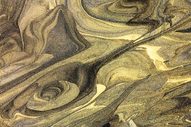 Elegante handgemachte experimentelle kunst mit goldenem hintergrund