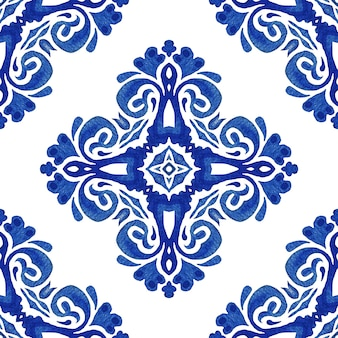 Elegante luxus hand gezeichnete textur für tapeten, hintergründe und seitenfüllung blau und weiß