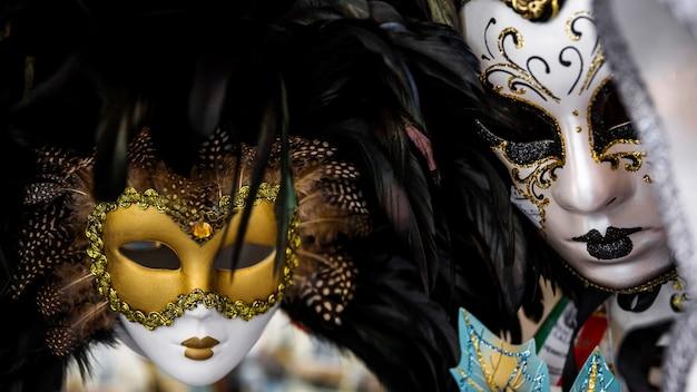 Elegante maske des venezianischen karnevals