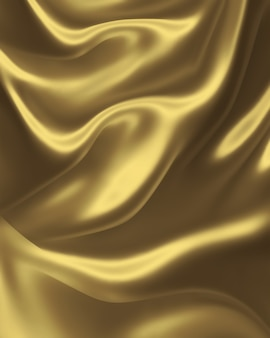 Eleganter hintergrund aus goldener seide für ihre projekte