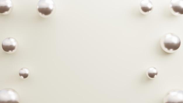Eleganter hintergrund mit realistischen ballons silber kopie raum weißen hintergrund 3d-darstellung