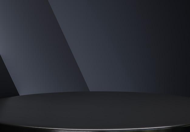 Eleganter schwarzer geometrie-produktständer