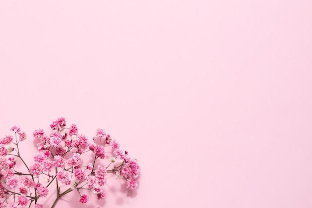 Elegantes blumiges zartes rosa