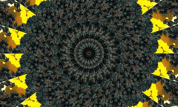 Elegantes, graues und hellblaues kreisförmiges ornament in form einer stilisierten blume. kaledoskop-muster für die herstellung von verpackungen, scrapbooking, geschenkverpackungen, büchern, heften, alben