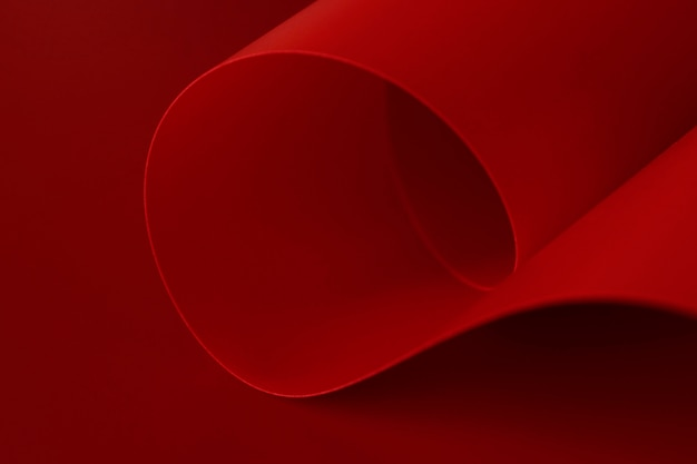 Elegantes, leuchtend rotes papier