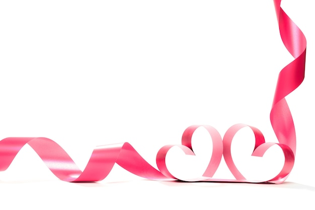 Elegantes rosa satin-geschenkband