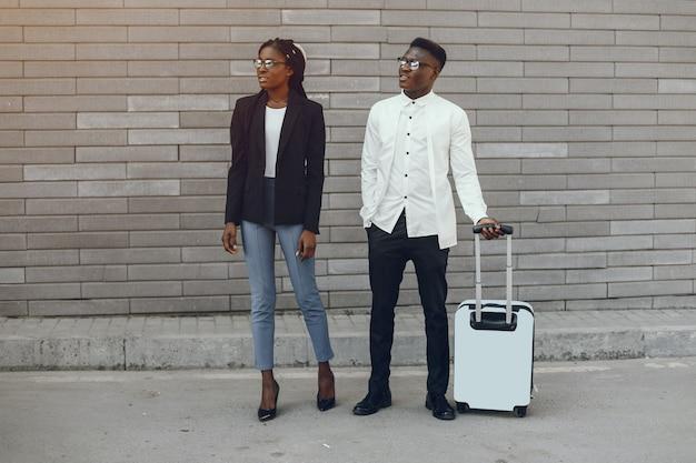 Elegantes schwarzes paar