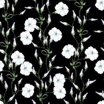 Eleganz aquarell hochzeit nahtlose muster mit bindenblumen.