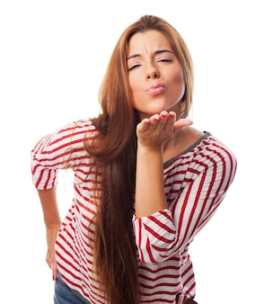 Eleganz hübsch perfekte lippen weiß