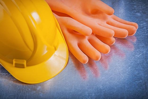 Elektriker gummihandschuhe schutzhelm